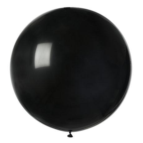 ballon hélium, ballon de baudruche, ballon en latex, ballon rond, ballon géant Ballon en Latex, Rond, 80 cm, Noir