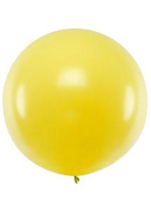 ballon géant jaune, ballon rond jaune, ballon baudruche, ballon de 1 mètre, Ballons Jaunes, 1 m, en Latex