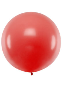 Ballon géant, ballon rouge géant, ballon hélium, ballon rond, Ballons Rouges, 1 m, en Latex