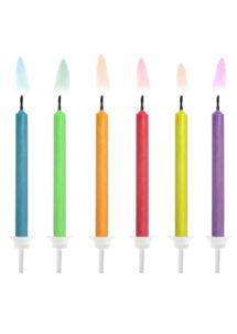 bougies pour anniversaires, bougies originales anniversaires, bougies flammes de couleur, bougies flammes colorées, bougies pour gâteau d'anniversaire paris, 6 Bougies d'Anniversaire, Flammes de Couleur
