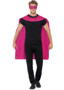 accessoire héros, accessoire de super héros, kit de super héros, cape de héros, accessoire déguisement héros, accessoire super héros déguisement, Kit de Super Héros, Cape et Masque, Rose