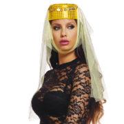accessoire oriental, coiffe orientale pièces d'or, danseuse arabe, danseuse du ventre, oriental, chapeau oriental pour femme Coiffe Orientale, Dorée