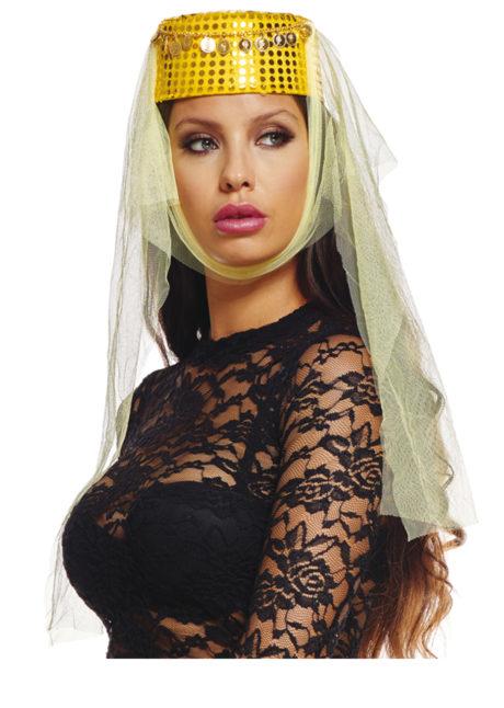 accessoire oriental, coiffe orientale pièces d'or, danseuse arabe, danseuse du ventre, oriental, chapeau oriental pour femme, Coiffe Orientale, Dorée