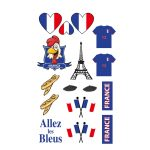 tatouages france, supporter france, accessoires euro 2016, maquillage supporters des bleus, supporters france, maquillage france Tatouages Temporaires, France