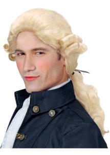 perruque homme, perruque de marquis, perruque versailles, perruque catogan, perruque louis XIV, perruque de noble, Perruque de Marquis, Comte Alfonso, Blonde