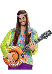 banjo gonflable, faux banjo, accessoire déguisement, faux instrument de musique, accessoire hippie déguisement, accessoire déguisement, fausse guitare, aux instrument de musique déguisement, accessoire déguisement hippie, Banjo Gonflable, Orange
