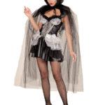 cape halloween femme, cape en tulle halloween, cape halloween adulte, cape femme carnaval de venise, cape transparente adulte, cape halloween déguisement Cape à Large Capuche, en Tulle Noir