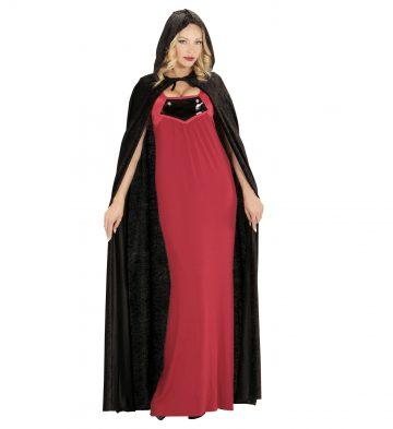 cape velours halloween, cape noire à capuche, cape déguisement halloween, cape carnaval de venise déguisement, cape noire à capuche, cape velours adulte, cape déguisement adulte Cape Noire à Capuche, Velours