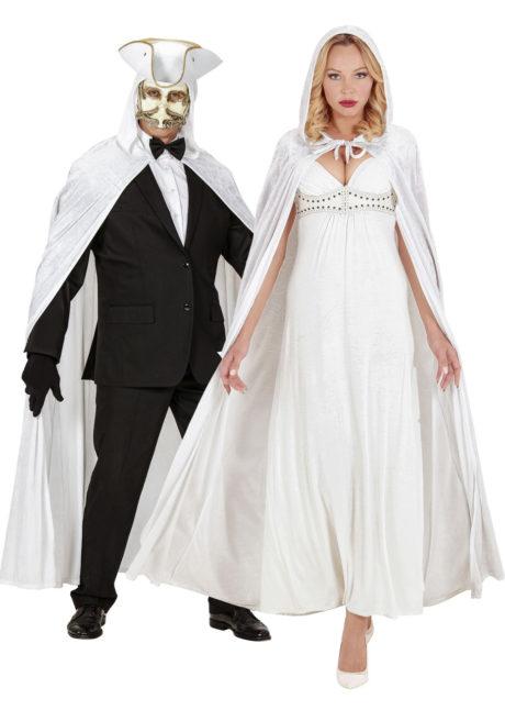 cape velours halloween, cape blanche à capuche, cape déguisement halloween, cape carnaval de venise déguisement, cape blanche à capuche, cape velours adulte, cape déguisement adulte, Cape Blanche à Capuche, Velours