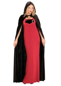 cape noire capuche, cape noire venise, cape vénitienne, cape noire halloween, Cape Noire à Capuche, Velours