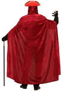 cape de diable halloween, cape velours halloween, cape rouge à capuche, cape déguisement halloween, cape carnaval de venise déguisement, cape rouge à capuche, cape velours adulte, cape déguisement adulte, Cape Rouge à Capuche, Velours
