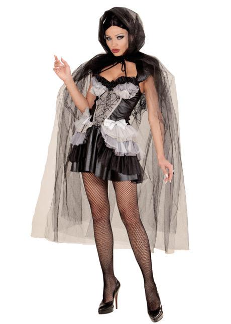 cape halloween femme, cape en tulle halloween, cape halloween adulte, cape femme carnaval de venise, cape transparente adulte, cape halloween déguisement, Cape à Large Capuche, en Tulle Noir