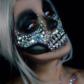 maquillage paillettes, maquillage halloween Peinture Corps et Visage, Moon Cosmic, Vert Métal