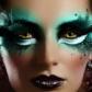 maquillage yeux Peinture Corps et Visage, Moon Cosmic, Vert Métal
