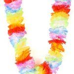 collier hawaïen, collier hawaï, collier de fleurs hawaïen, collier de fleurs hawaï, collier de fleurs hawaïen pas cher Collier Hawaïen, Rainbow Multicolore