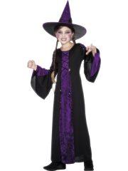 déguisement de sorcière enfant, déguisement halloween fille, déguisement halloween enfant, déguisement sorcière halloween enfant, déguisement sorcière halloween fille, costume halloween enfant, costume sorcière fille Déguisement de Sorcière, Noire et Violette, Fille
