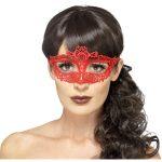 loup en dentelle rouge, masque vénitien, loup en dentelle, accessoire halloween, accessoire masque vénitien, accessoire bal masqué, masque carnaval de venise, loup en dentelle rouge Loup Dentelle, Rouge