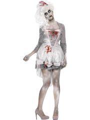 déguisement halloween femme, costume halloween femme, Déguisement Géorgienne de l'Apocalypse Zombie