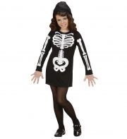 déguisement squelette fille halloween, costume squelette halloween, déguisement enfant halloween, costume enfant halloween, déguisement halloween fille, costume halloween fille Déguisement de Squelette Glamour, Robe, Fille