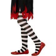 collant sorcière enfant, accessoire halloween, accessoire sorcière déguisement, accessoire collants fille, accessoire collants rayés enfant, accessoire sorcière déguisement enfant Collant de Sorcière, Noirs et Blancs, Enfant