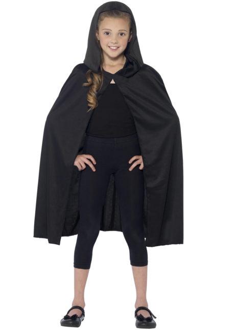 cape noir enfant, cape halloween enfant, cape pour enfant halloween, cape de vampire halloween, cape à capuche enfant, cape halloween enfant, cape noire capuche enfant, Cape Noire à Capuche, Enfant