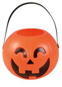 seau citrouille halloween, pot à bonbons halloween, citrouille à bonbons halloween, Chaudron Citrouille, Halloween