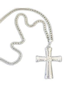 collier croix halloween, accessoire croix gothique, accessoire halloween, accessoire croix gothique, collier croix gothique, Collier Croix Gothique sur Chaîne