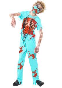 déguisement halloween enfant, déguisement zombie enfant, costume halloween enfant, déguisement chirurgien zombie enfant, déguisement zombie garçon, Déguisement de Chirurgien Zombie, Garçon