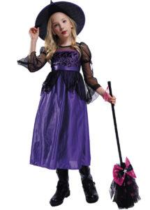 déguisement de sorcière enfant, déguisement halloween fille, déguisement halloween enfant, déguisement sorcière halloween enfant, déguisement sorcière halloween fille, costume halloween enfant, costume sorcière fille, Déguisement de Sorcière, Noire et Violette, Fille