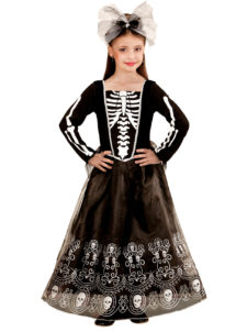 déguisement squelette fille halloween, costume squelette halloween, déguisement enfant halloween, costume enfant halloween, déguisement halloween fille, costume halloween fille, Déguisement de Squelette Mexicain Glamour, Fille