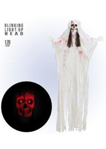 suspension Halloween, suspension lumineuse, suspension squelette, Suspension Mariée Sanglante Lumineuse