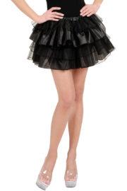 tutu pour femme, tutu noir, jupon noir, jupon femme, tutu femme déguisement, déguisement tutu, accessoire tutu déguisement, accessoire déguisement tutu noir Tutu en Tulle et Satin, Noir