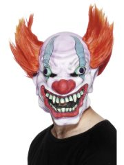 masque de déguisement, accessoire masque déguisement, accessoire masque halloween, accessoire déguisement halloween, masque clown halloween, accessoire masque clown horreur, masque latex déguisement, masque clown diabolique, masque clown halloween, masque clown maléfique Masque de Clown Bobo