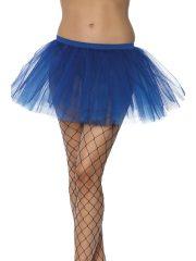 tutu pour femme, tutu noir, jupon noir, jupon femme, tutu femme déguisement, déguisement tutu, accessoire tutu déguisement, accessoire déguisement tutu bleu Tutu en Tulle et Résille, Bleu