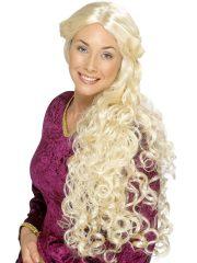 perruque pas chère à paris, perruques femmes, perruques de déguisement, perruque historique, perruque médiévale, perruque moyen âge, perruque de déguisement, perruque renaissance déguisement, accessoire déguisement médiéval, perruque pour se déguiser Perruque Renaissance Blonde