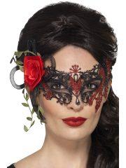 masque squelette mexicain, masque de déguisement, masque mexicain halloween, masque déguisement halloween, accessoire déguisement halloween masque, masque en papier maché, masque dia de la muerte, masque halloween, masque halloween day of death, déguisement jour des morts, masque jour de morts adulte, masque halloween femme Loup Dentelle Métal, Jour des Morts