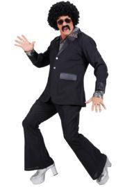 déguisement années 80 homme, déguisement survet disco, déguisement beauf, déguisement années 80 homme, déguisement années 90 homme, déguisement disco homme, déguisement homme disco Déguisement Disco Party, Noir, Années 70