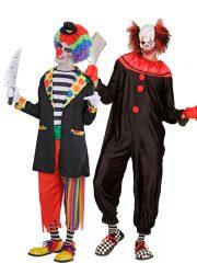 déguisement couple halloween, déguisement clown qui fait peur, déguisement clown halloween, déguisement clown maléfique, costume clown effrayant, déguisement halloween homme, costume halloween homme, déguisement halloween adulte Killer Clown et Clown Evil