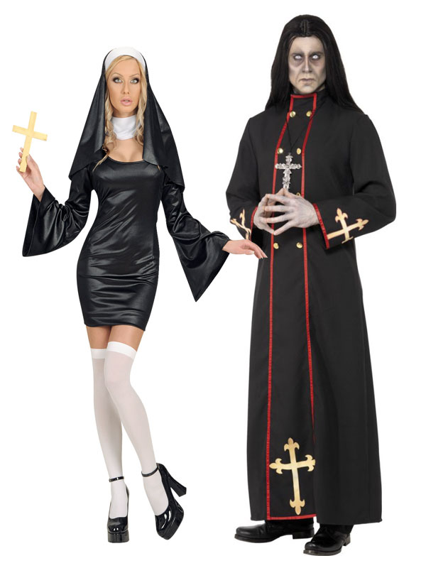 d guisement couple de religieux nonne et cardinal de la. Black Bedroom Furniture Sets. Home Design Ideas
