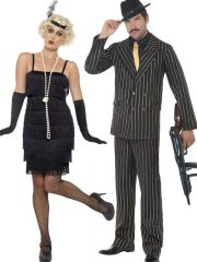 déguisement à deux, déguisement couple, déguisement cabaret adulte, déguisement charleston adulte, déguisement prohibition adulte, costume années 30, costume années 20, déguisements années 20, déguisement années 30 Déguisement Couple Années 30, Charleston et Prohibition