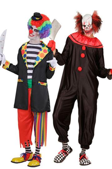 d guisement couple de clowns effrayants aux feux de la f te paris. Black Bedroom Furniture Sets. Home Design Ideas