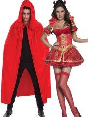 déguisement couple, déguisement halloween adulte, déguisement à deux, déguisement de diable, costume de diable, déguisement halloween couple Diable et Diablesse
