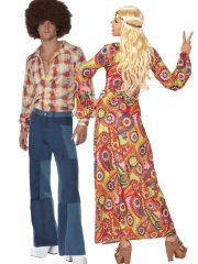 déguisement couple, déguisement à deux, déguisement hippie adulte, costume de hippie adulte, déguisement années 70, déguisement woodstock Disco et Hippie, Années 70