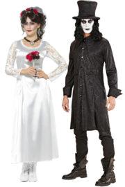 déguisement halloween couple, déguisement à deux, déguisement couple halloween, déguisements halloween adulte, costume halloween adulte, déguisement démon, déguisement croque mort halloween Déguisement Couple Halloween, Mariée Démon et Croque Mort