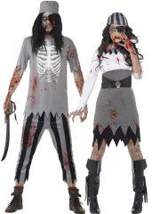 déguisement duo, déguisement de pirate zombie, déguisements halloween, déguisement halloween homme et femme, déguisement halloween couple Déguisement Couple de Pirates Zombies