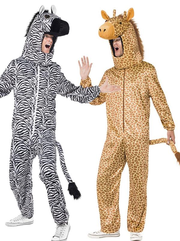 d guisement couple de la jungle z bre et girafe aux feux de la f te paris. Black Bedroom Furniture Sets. Home Design Ideas