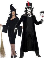 déguisement à deux, déguisement couple halloween, déguisements halloween adulte, costume halloween adulte, déguisement sorcière femme, déguisement sorcier homme, déguisement halloween Déguisement Couple de Sorcier Vaudou et Sorcière