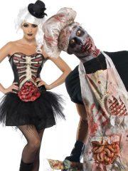 déguisement halloween zombie, déguisement couple halloween, costume couple halloween, costume zombie halloween adulte, déguisement zombie halloween Déguisement Couple Halloween, Viscères et Boucherie