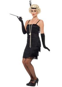 robe charleston déguisement, déguisement charleston, déguisement années 30, robe années 20, costume cabaret, déguisement cabaret femme, déguisement robe charleston, Déguisement Charleston, Flapper Noir