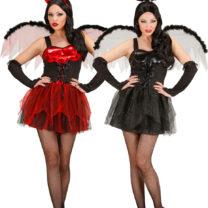 déguisements duo Halloween, déguisements couples halloween, déguisement diablesse halloween, déguisement ange noir
